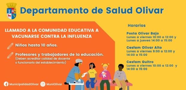 ¡Atención Comunidad Educativa! Campaña de Vacunación Influenza