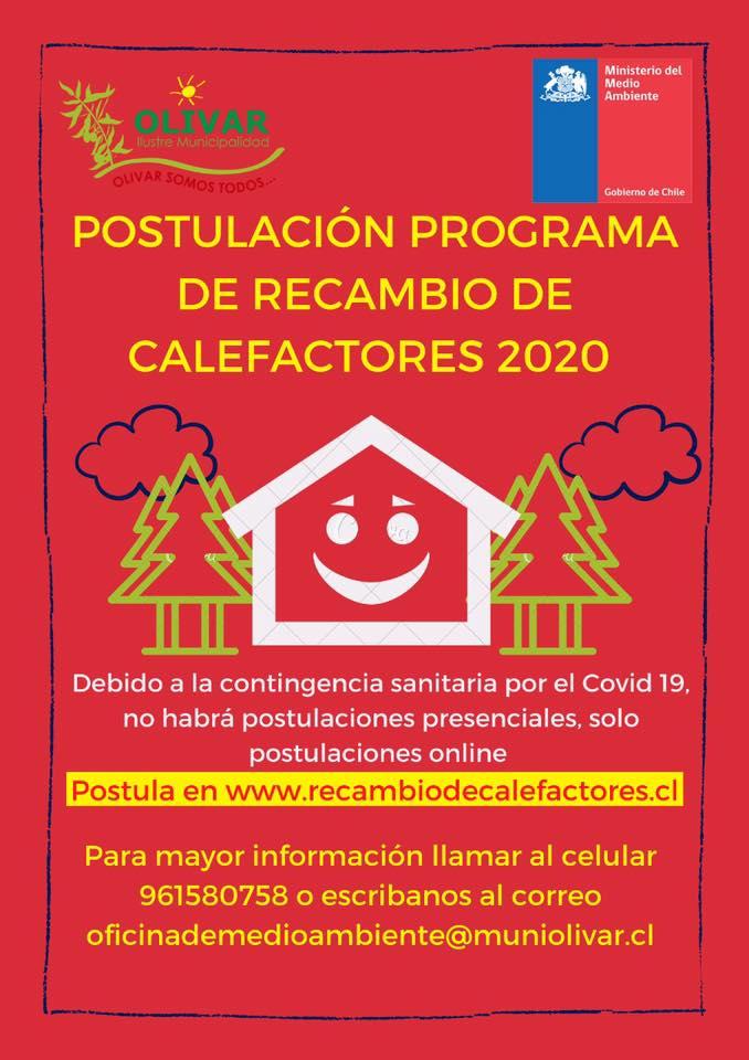 Oficina de Medio Ambiente  apoya postulación al programa de recambio de calefactores