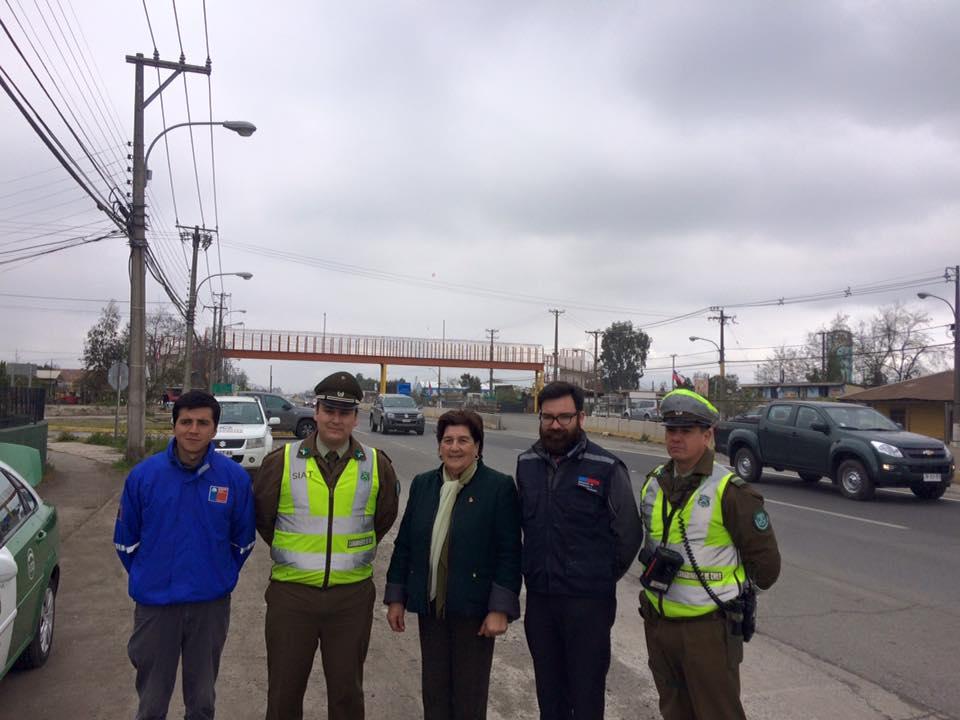 Seremi de Transportes, Alcaldesa y  Carabineros realizan campaña preventiva de cara a fiestas patrias