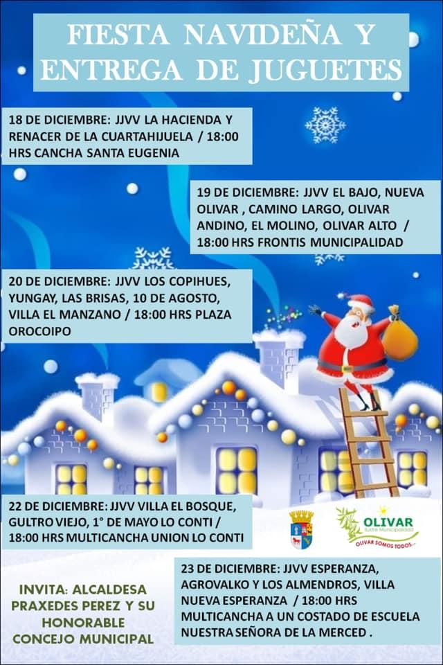 Calendario: Fiestas de Navidad y entrega de juguetes por sector