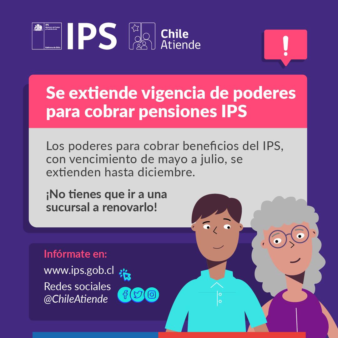 EL IPS EXTIENDEHASTA DICIEMBRE LA VIGENCIA DE PODERES PARA EL COBRO DE PENSIONES