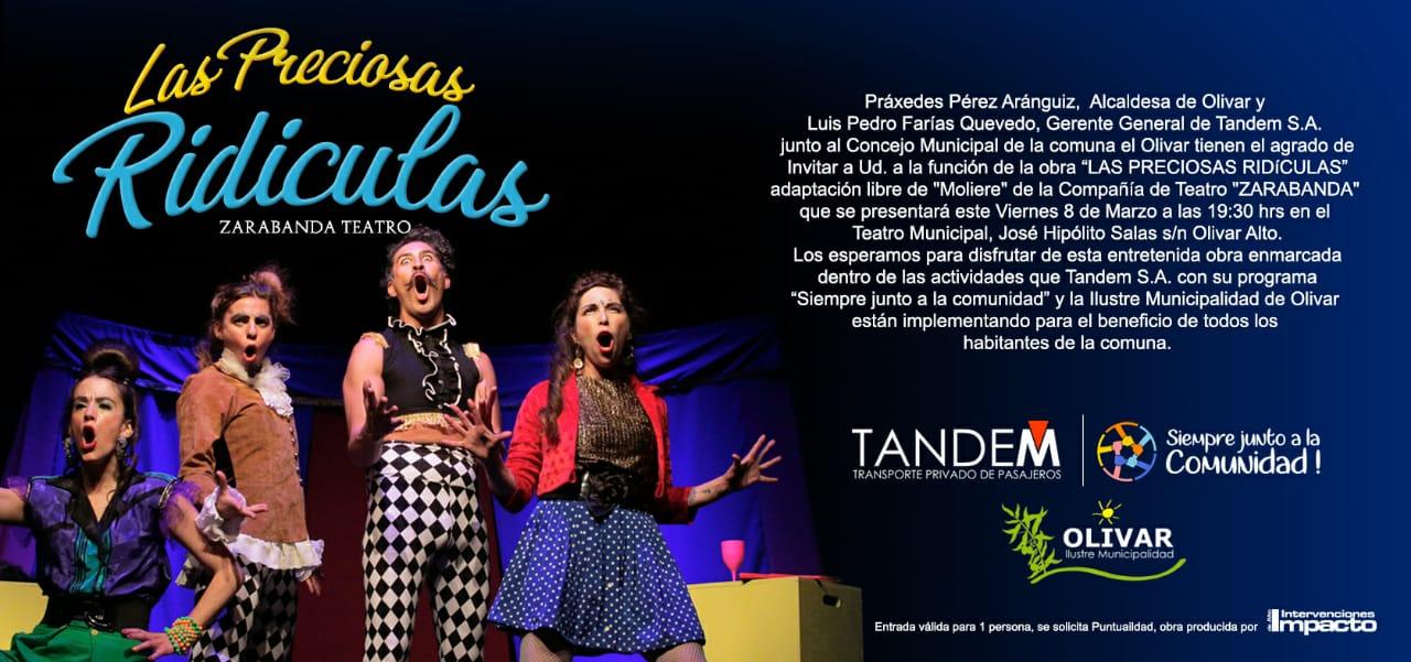 """Obra de teatro gratuita: """"Las Preciosas Ridículas"""""""
