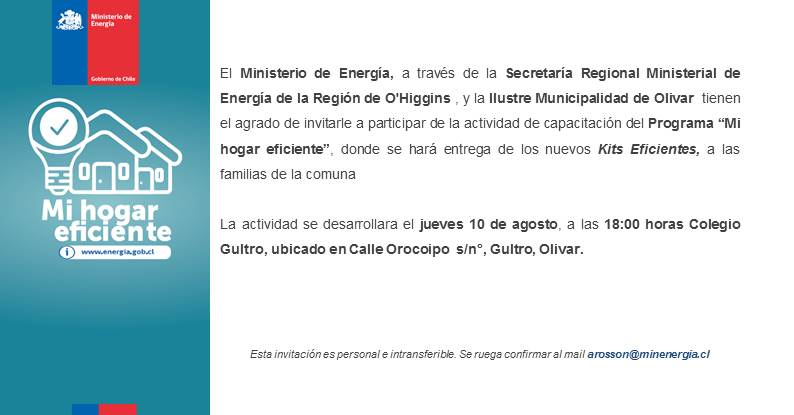 Entrega de kits de ampolletas para beneficiarios de la comuna (jueves 10/ 18:00 horas, Colegio Gultro)