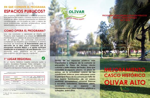 Láminas explicativas del proyecto Mejoramiento de Casco Histórico Olivar