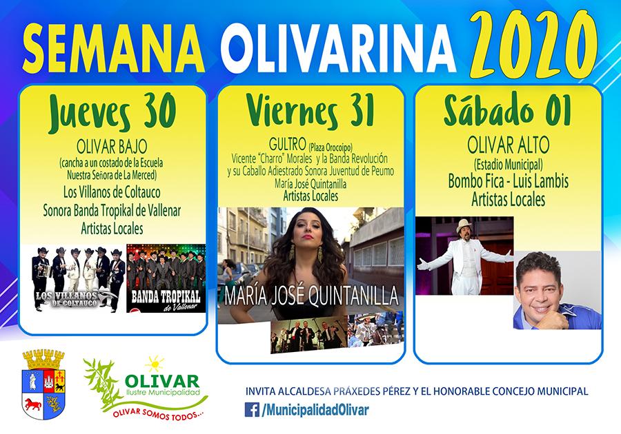 SEMANA OLIVARINA 2020/ FIESTAS MASIVAS