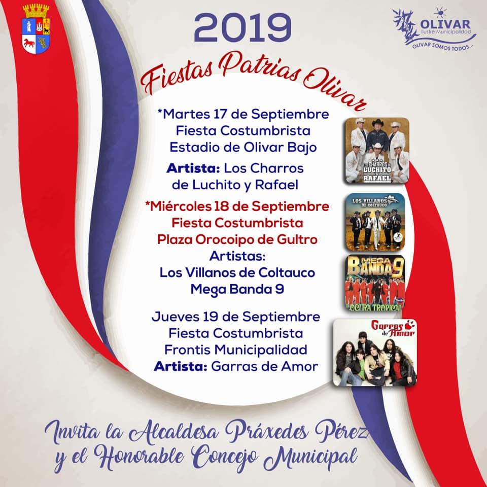 Celebración Fiestas Patrias en Olivar