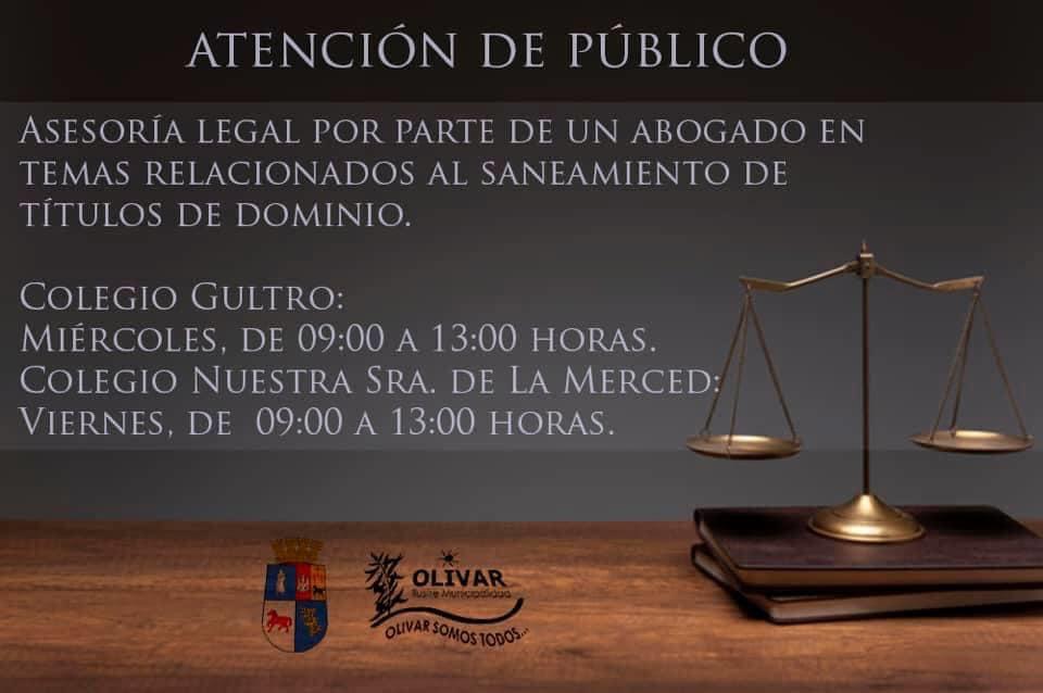 Municipalidad de Olivar implementa atención jurídica en terreno para saneamiento de títulos de dominio