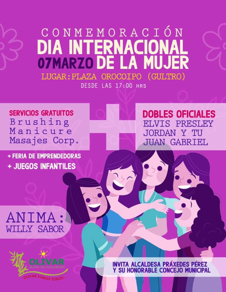 Con diversas actividades conmemoran Día Internacional  de la Mujer en Olivar