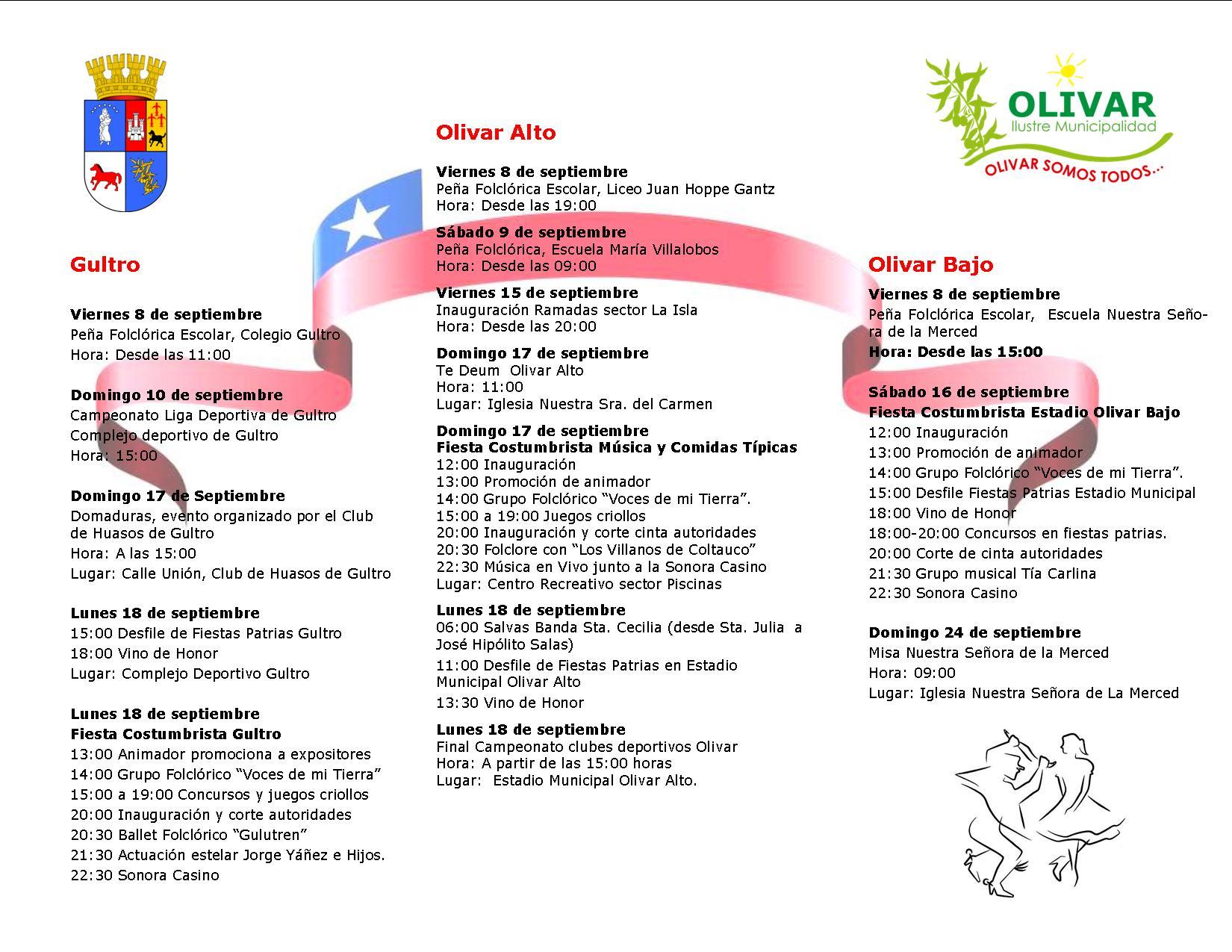 Programa Oficial de Fiestas Patrias Olivar 2017