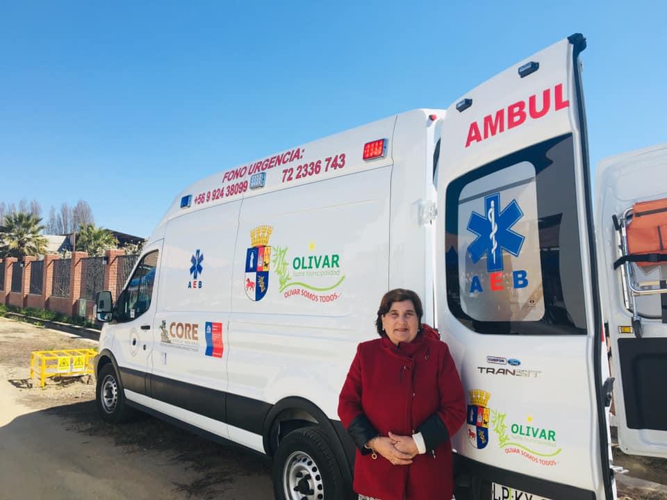 Olivar cuenta con una nueva y moderna ambulancia
