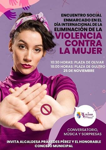 Conmemoración del mes de la No Violencia hacia la mujer en Olivar