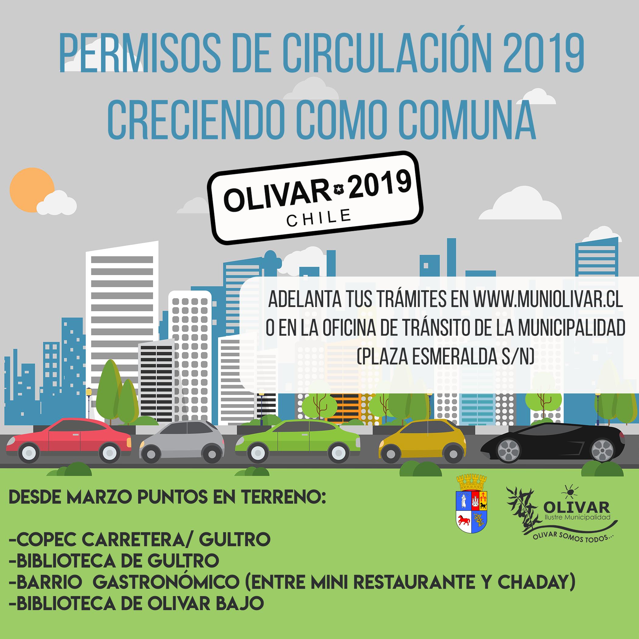 Permisos de circulación 2019: Horario de atención extendido en Municipio y Puntos en terreno