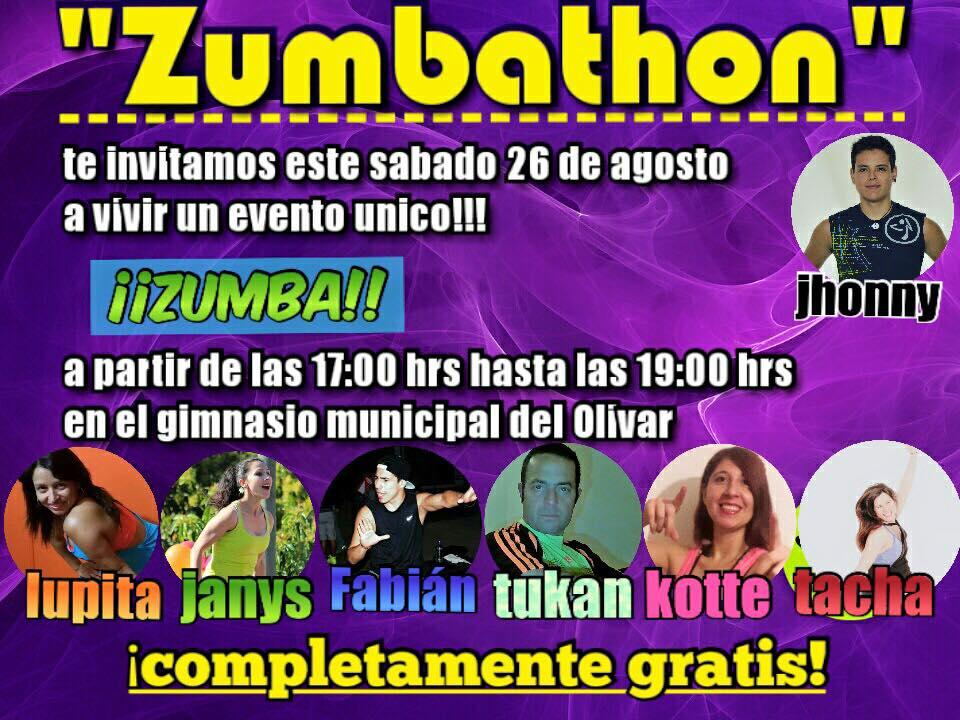 GRAN ZUMBATÓN GRATUITA/ 26 DE AGOSTO